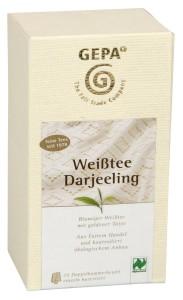 Darjeeling Weißer Beuteltee von Gepa