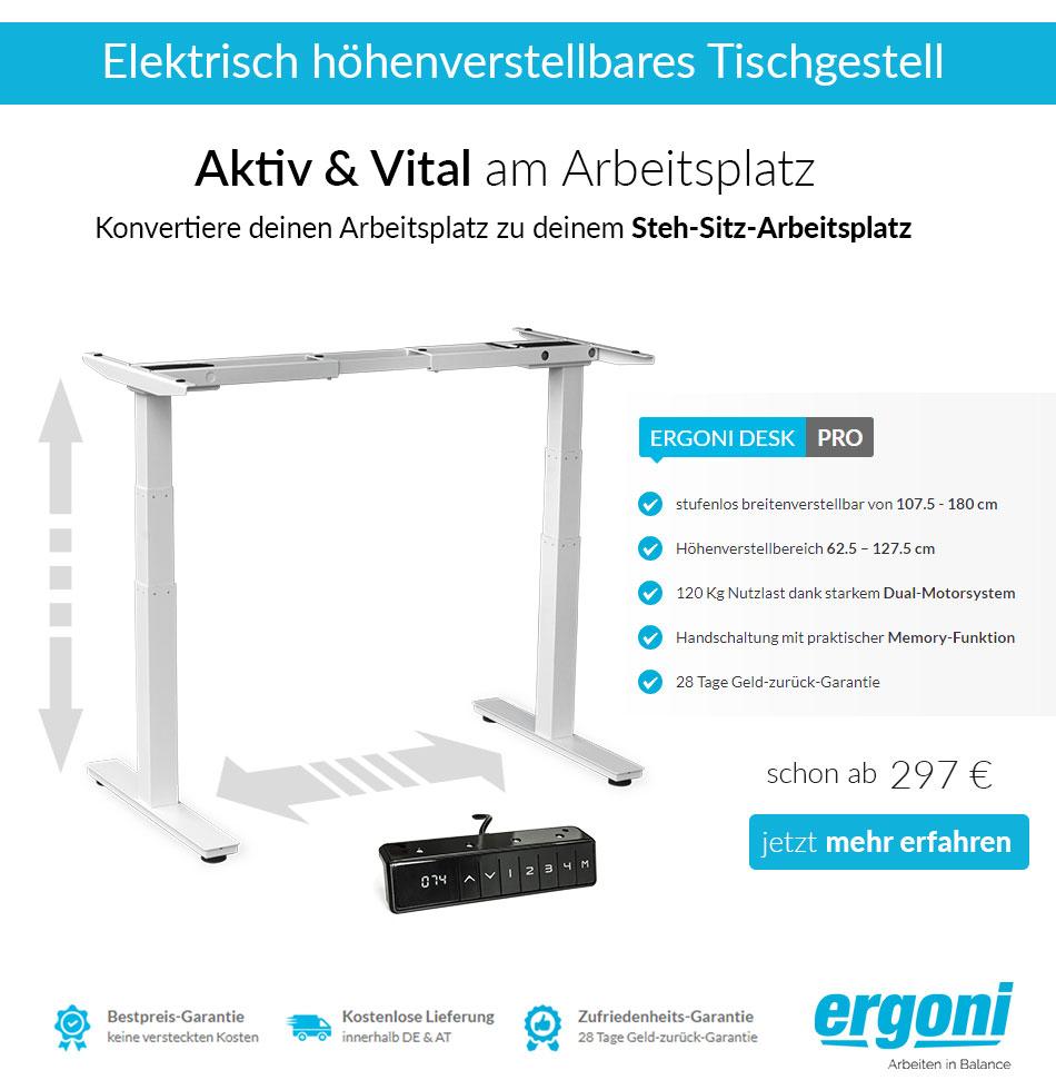 Ergoni - Elektrisch höhenverstellbares Tischgestell